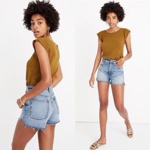 NWT Madewell The Perfect Jean Short Tulip Hem